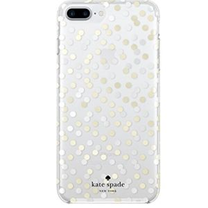 Kate Spade iPhone 7 Gold Silver Dot Case